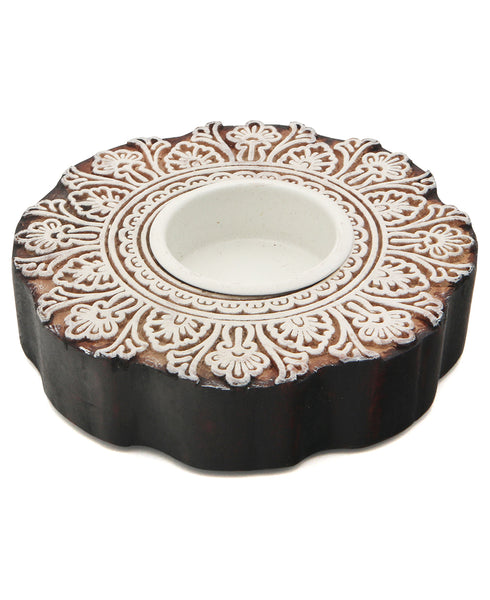 Blossom Traditional Printing Block Tealight Holder