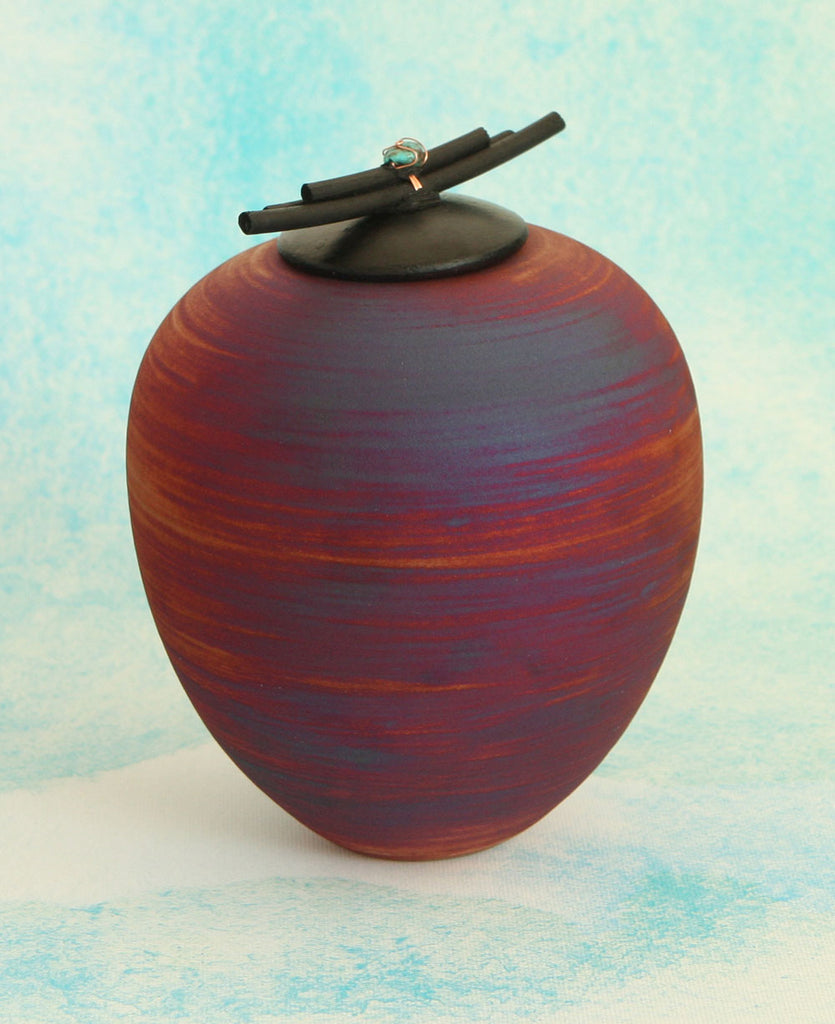 Terra Sunset Ceramic Dream Jar, Made in Mexico