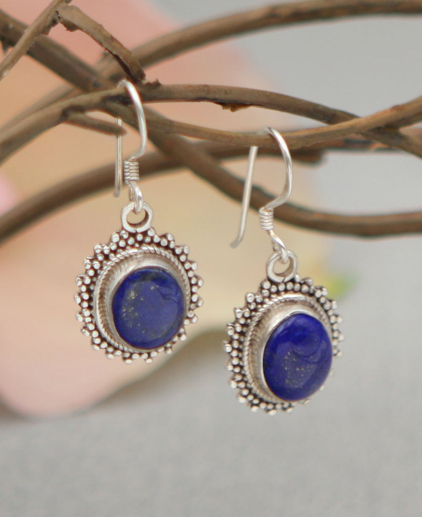 Regal Lapis Earrings