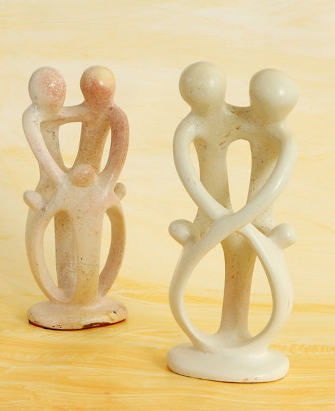 All In The Family Kenyan Soapstone Statue