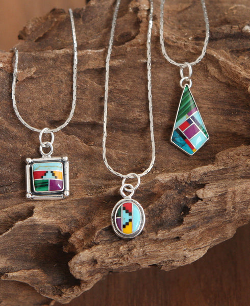 Southwestern Shoshone Gemstone Pendant Necklace, USA