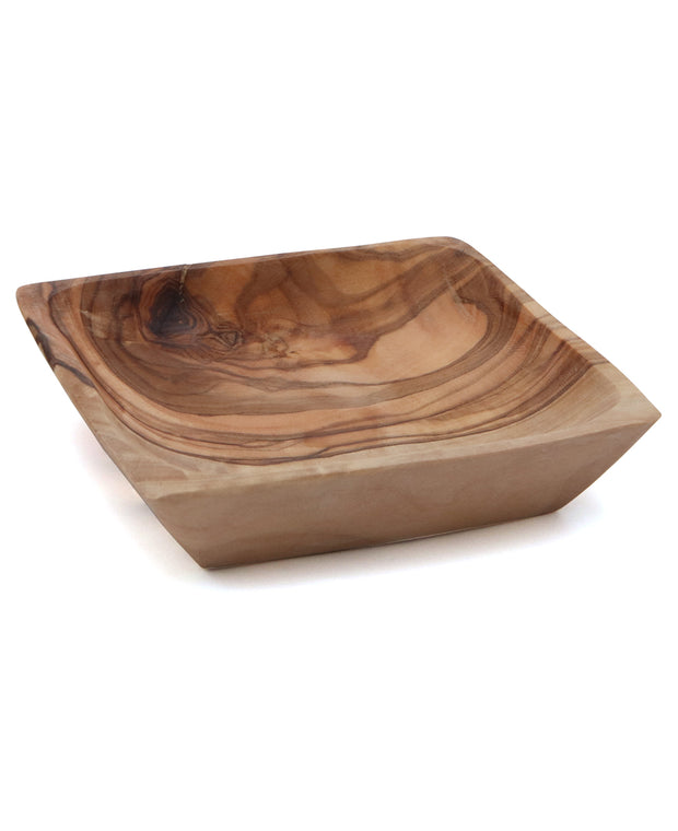 Handmade Olive Wood Square Dish, 4 Inches