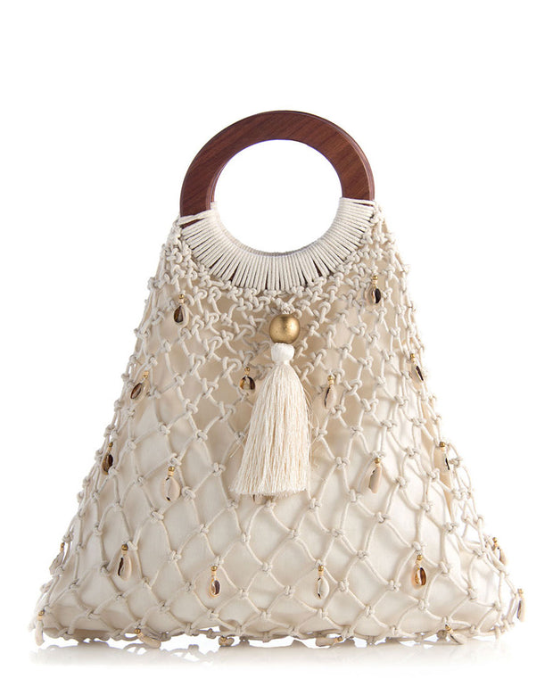 Fishnet Macrame Handbag