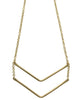 Simple Brass Chevron Necklace, Kenya