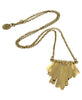 Skinny Brass Fringe Necklace, Kenya