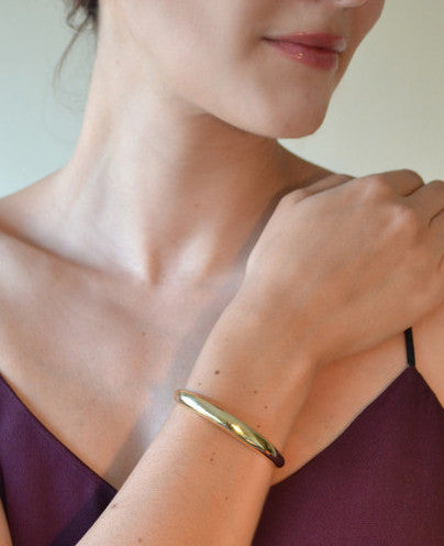 Simple Horseshoe Cuff in Brass, Eco-Friendly