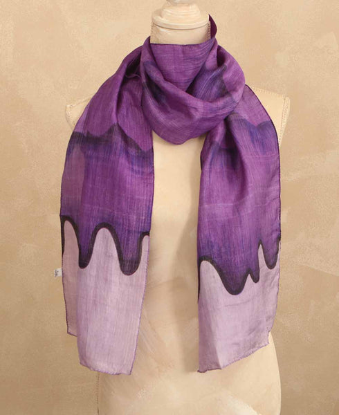 Fair Trade Purple Wave Scarf, India