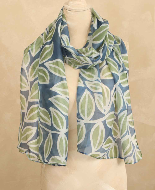 Silk Leaf Scarf