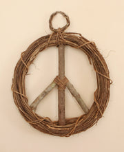 Peace Sign Wood Hanging