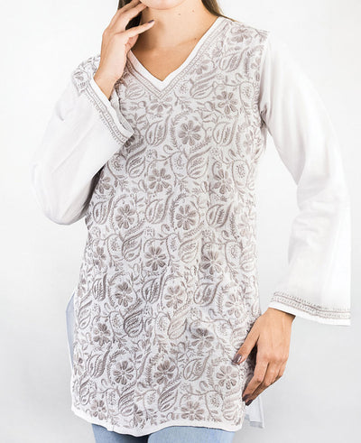 Embroidered Floral Tunic