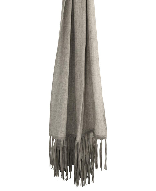Hand Woven Leather Cashmere Scarf