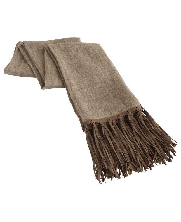 Leather Cashmere Scarf