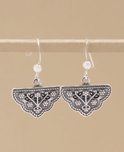 Silver Floral Earrings