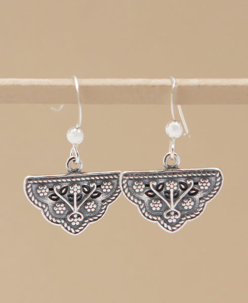 Mahal Gardens Silver Floral Earrings