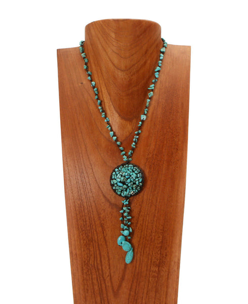 Trickling Waters Thai Turquoise Necklace