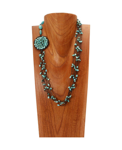 Sea Spray Turquoise Garland Necklace