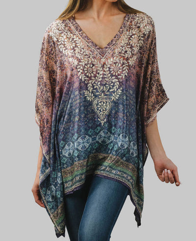 Embroidered Twilight Blouse, Fair Trade