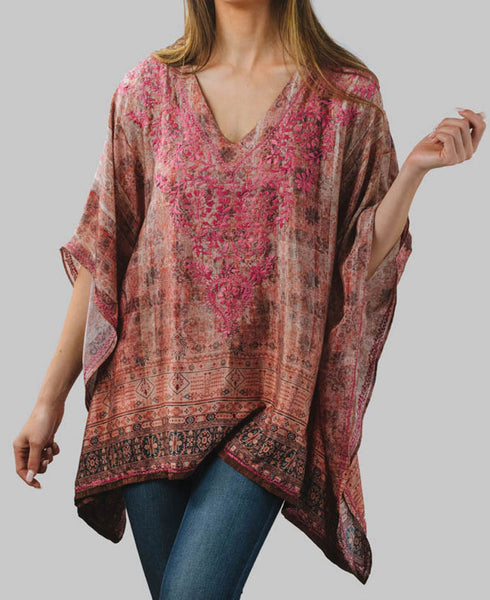 Rose Garden Poncho Top