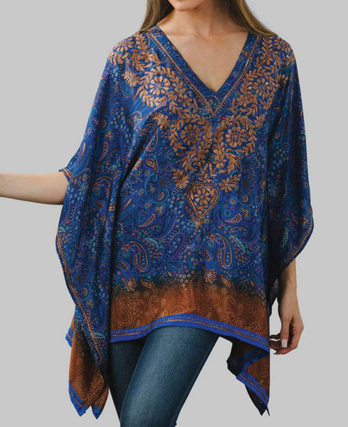 Royal Blue Sundar Butterfly Top, Fair Trade