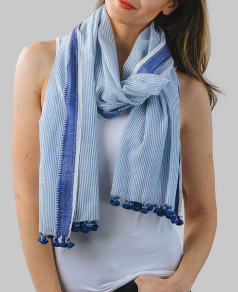 Fair Trade Striped Scarf