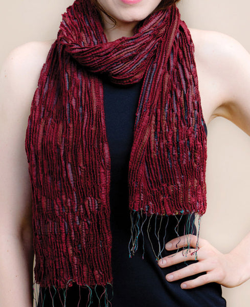 Silk and Wool Indian Resham Scarf