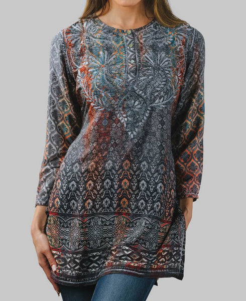 Steel Blue Indian Tunic, Fair Trade