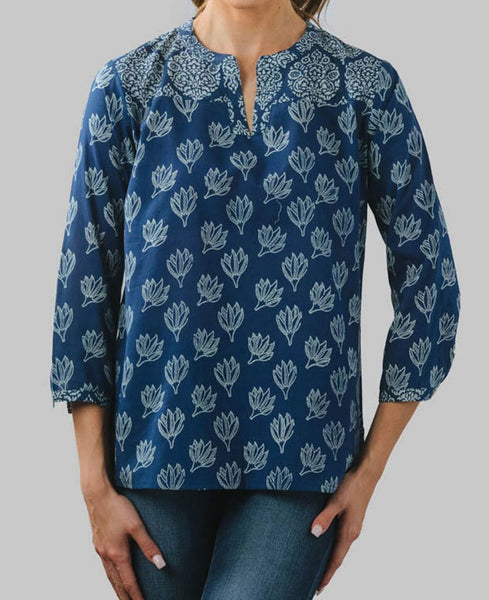 Fair Trade Indigo Padma Blouse