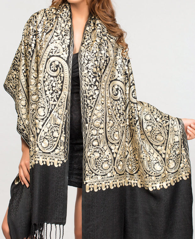 Gold Embroidered Shawl