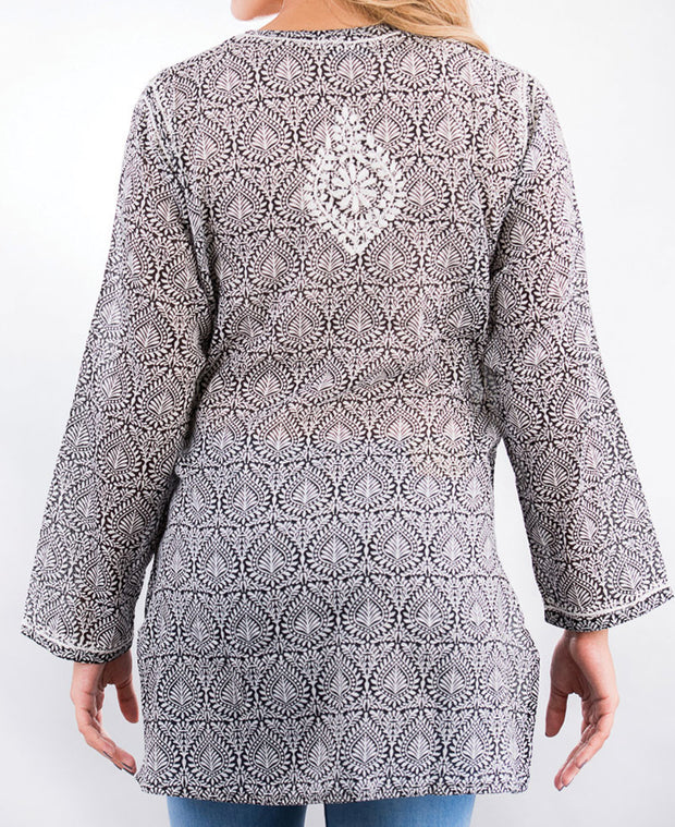 Black and White Indian Tunic