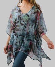Watercolor Printed Poncho
