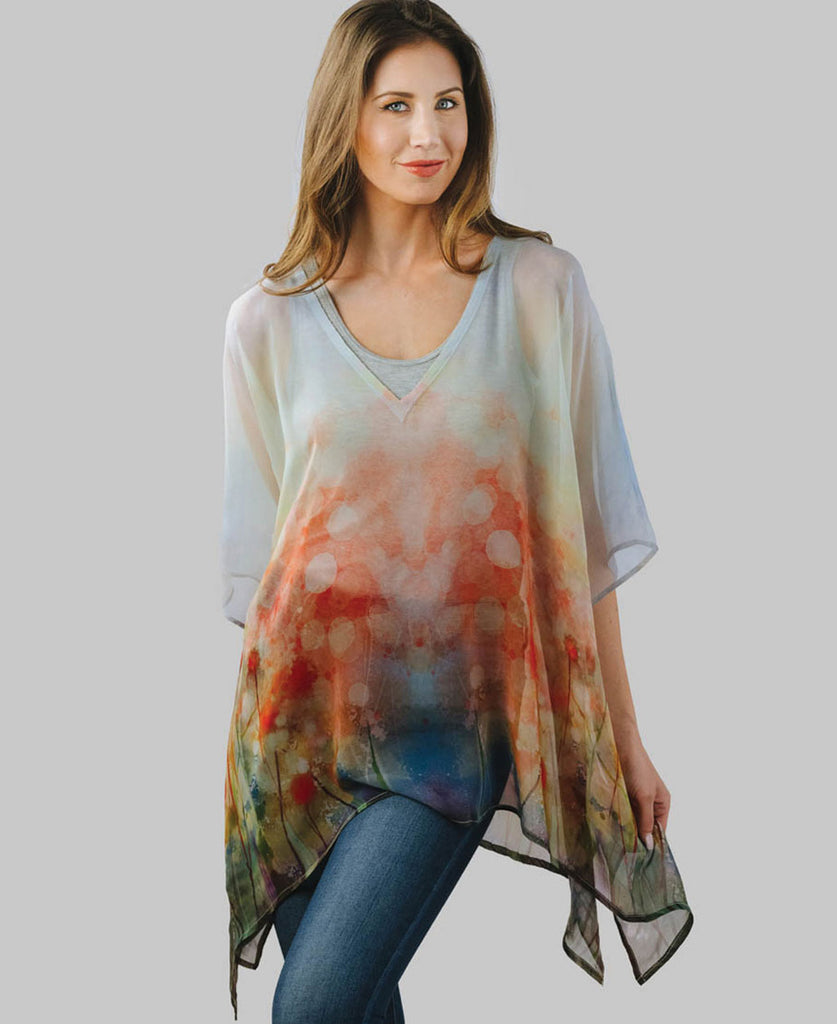 Watercolor Poncho