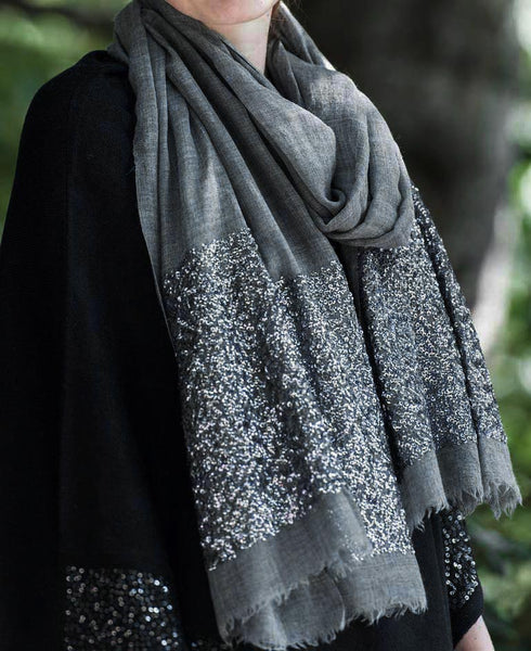Fair Trade Metallic Sequin Scarf, India