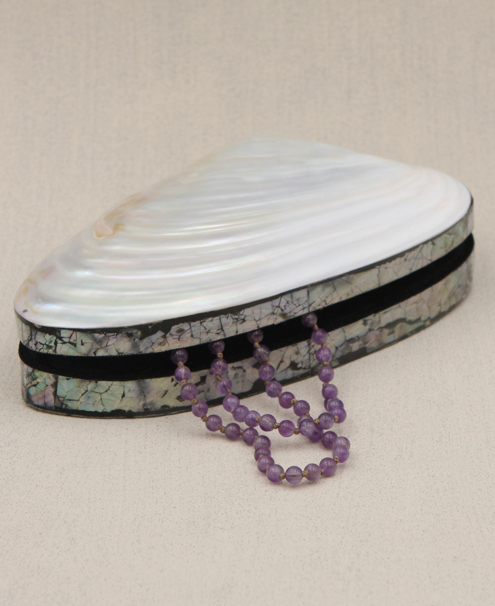 Shimmering River Shell Jewelry Box Cultural Elements