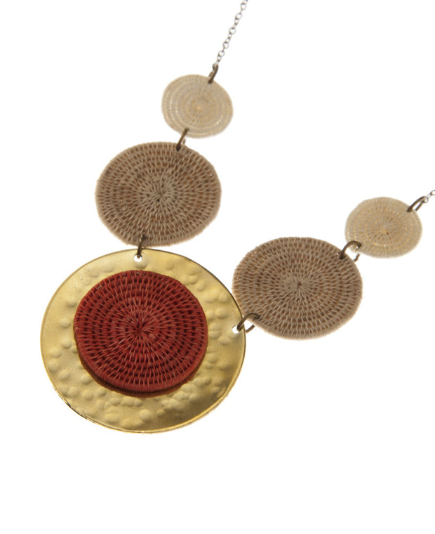 Swazi Sisal Sun Disk Necklace