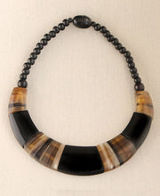Striped Horn Necklace