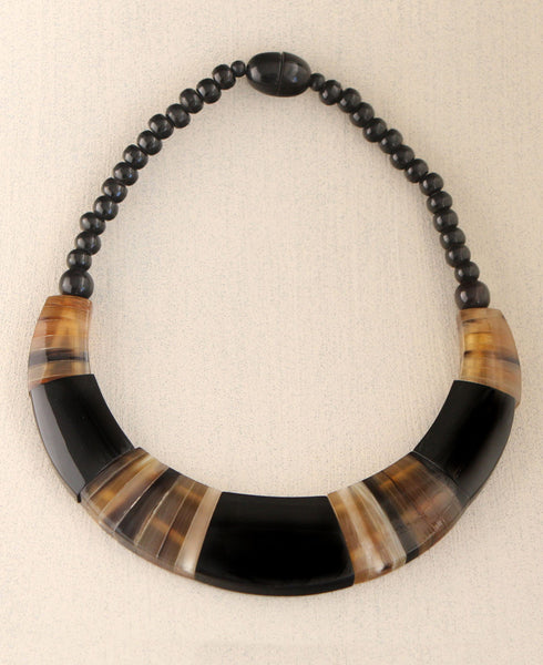 Striped Horn Necklace, Nepal