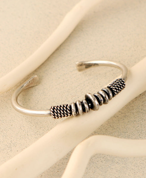 Stacked Rings Cuff Bracelet