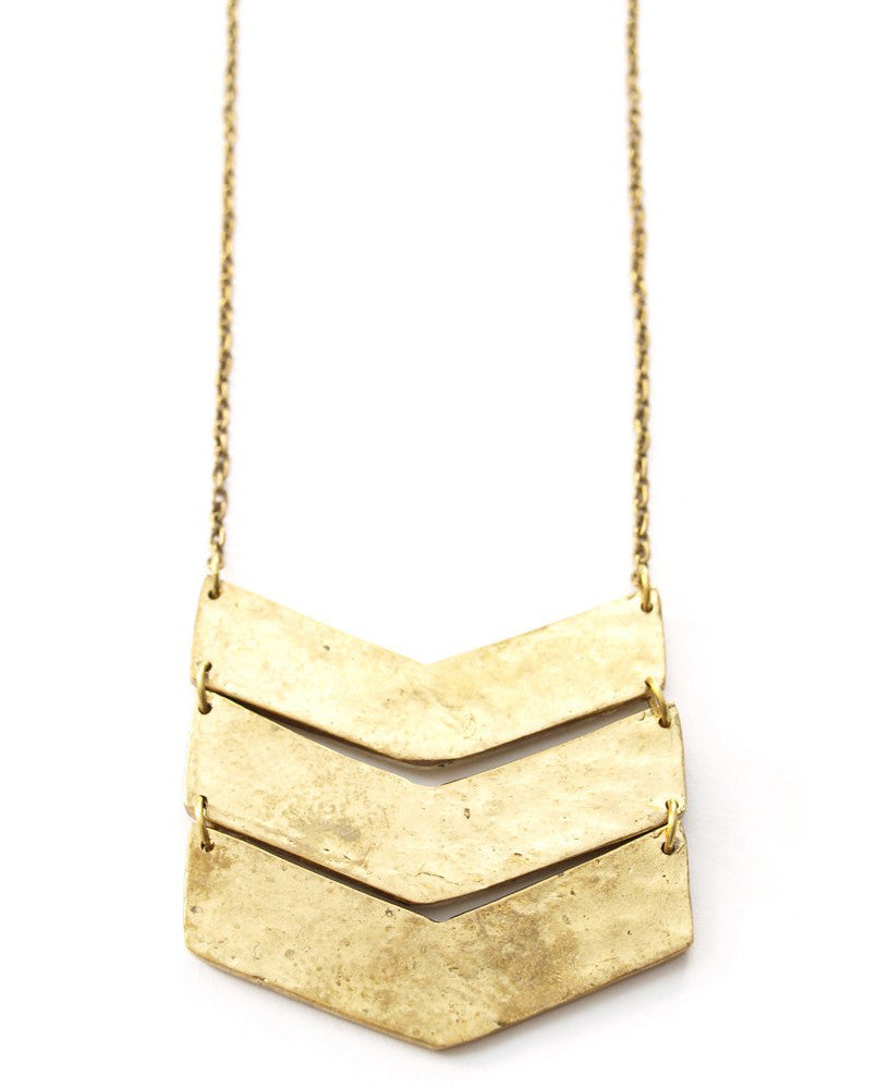 Fair Trade Stacked Chevron Necklace, India