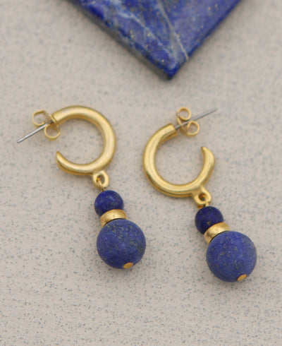 Sumerian Lapis Earrings