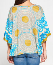 Sun Wheel Poncho Top back