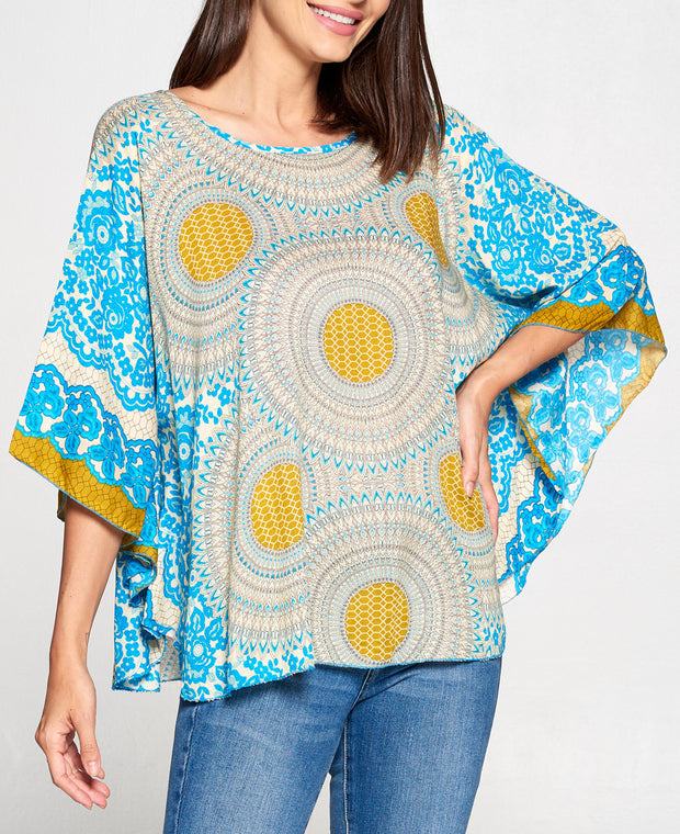 Sun Wheel Poncho Top