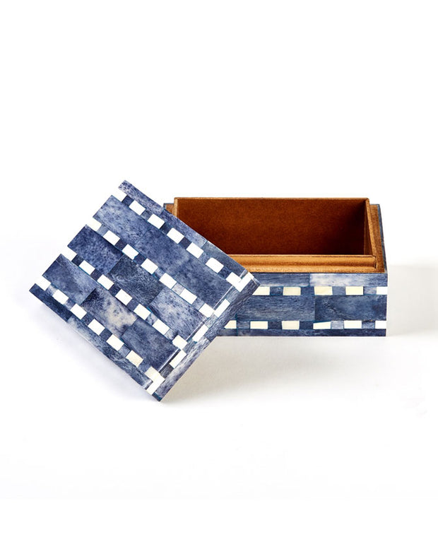 Blue Indigo Mosaic Box, India