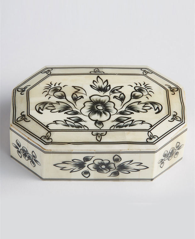 Laxmi Villas Hand Painted Indian Floral Boxes