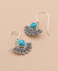 Geometric Turquoise Tribal Earrings
