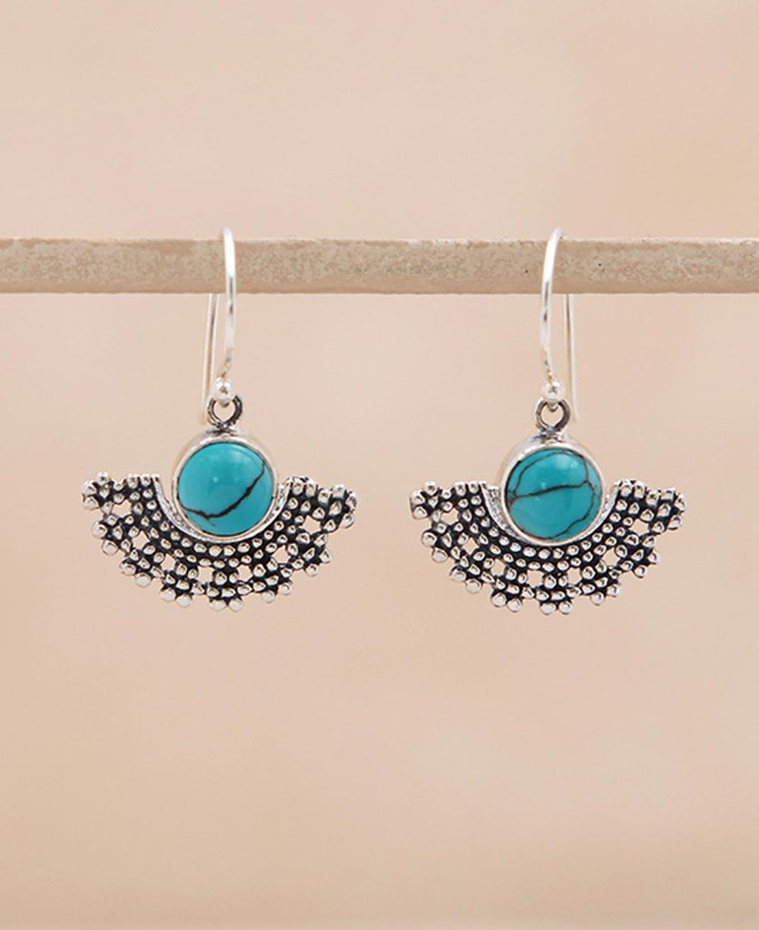 Turquoise Tribal Earrings