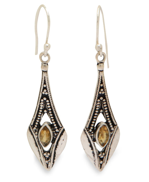 Citrine Gemstone Dangling Earrings