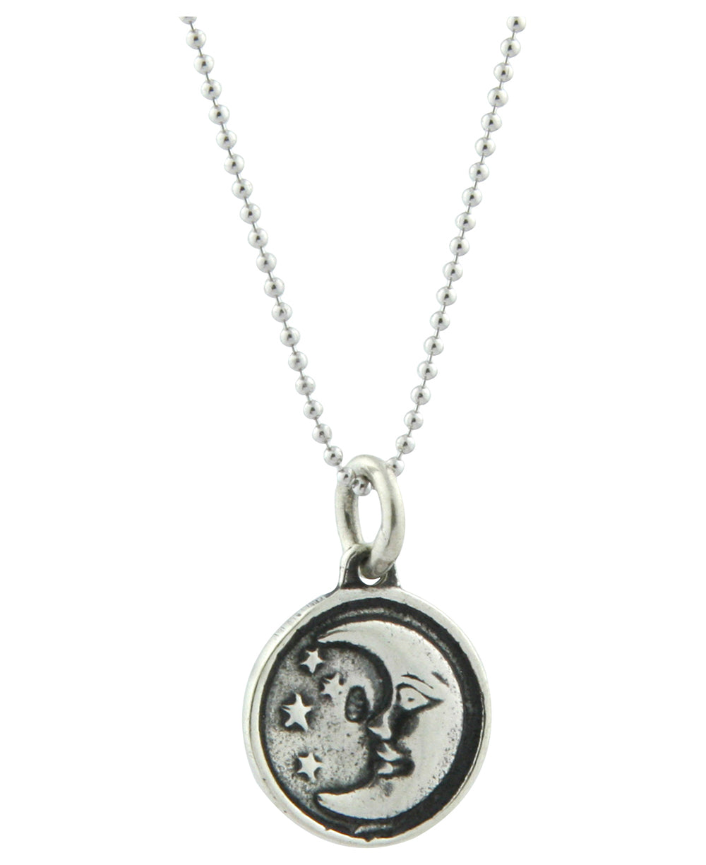 Sterling Silver Sun and Moon Pendant Necklace, Thailand ...