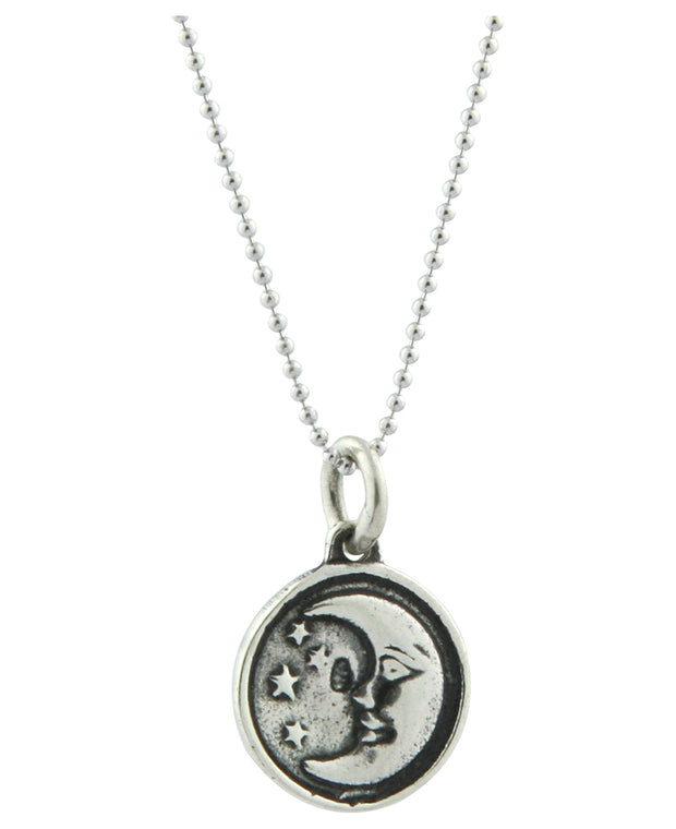Sterling Silver Sun and Moon Pendant Necklace, Thailand