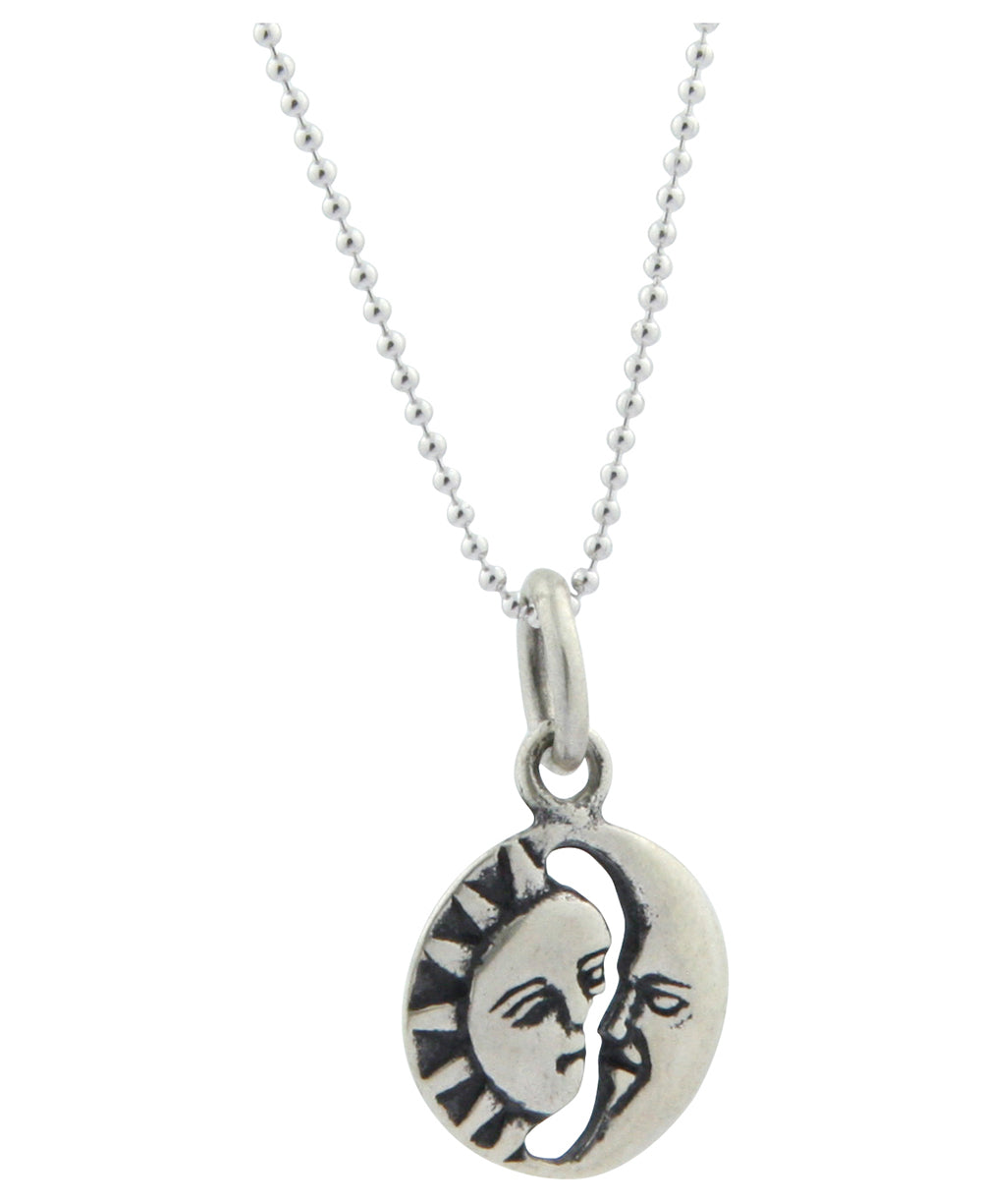 Sterling silver sun and moon pendant necklace thailand cultural thailand sterling silver sun and moon pendant necklace mozeypictures Choice Image