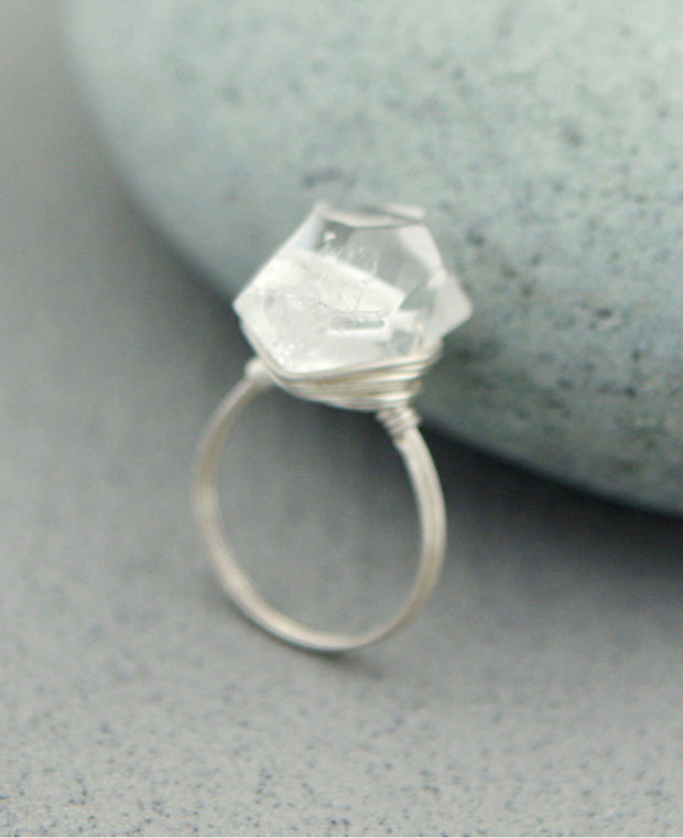 Clear Quartz Gemstone Ring